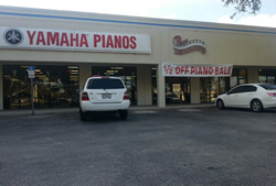 Piano Distributors main showroom in Orlando